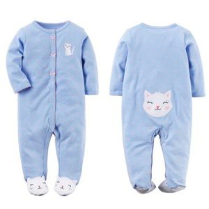 5/$25 Carter's Kitty Cat Footie